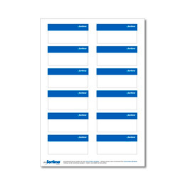 Labelling sticker SR blue 1 sheet