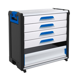 WorkMo 34-750 with 4 drawers & aluminium drop-down front