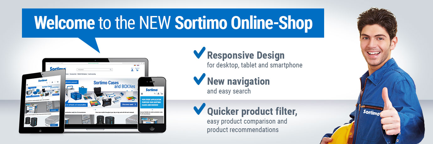 Welcome to the Sortimo Online-Shop