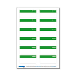Adhesive labels, light green, for BOXXes/cases/clips 12 in number. (1 sheet)